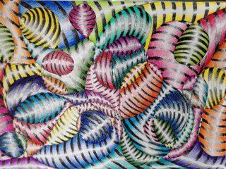 fiore a matite colorate