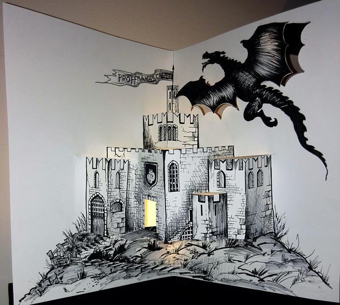 castello pop-up effetto luci