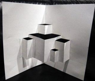 castello pop-up volumi e piegatura
